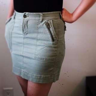 Green Khaki Skirt