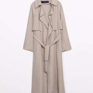 ZARA Flowy Trench Coat (natural Or Beige) Size XS XSMALL