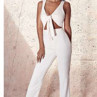 BNWT jumpsuit creme house of cb xs