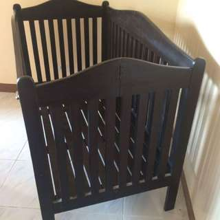 Repriced Wooden Crib
