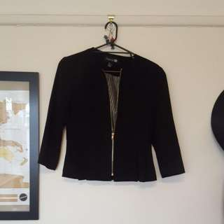 Ladies 12 Forever New Black Peplum Jacket