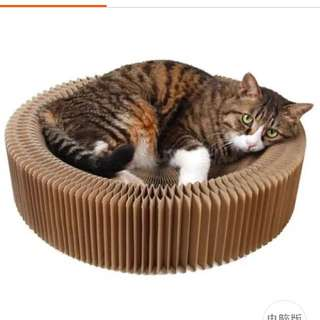 (NEW!)$30 Foldable Cat Scratch Bowl Bed