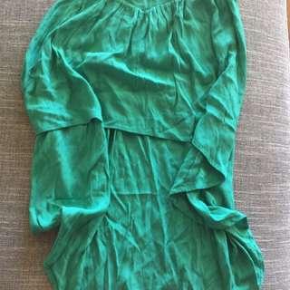 Bardot Emerald Green Skirt