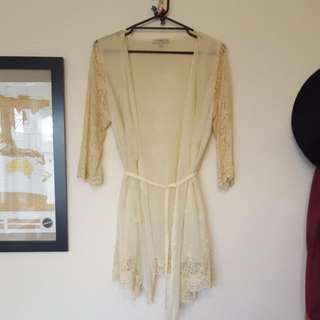 Ladies 12 Sheer Lace Cardigan