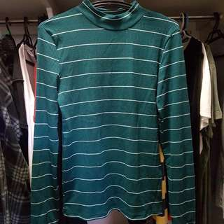 Green Stripes Winter Clothing