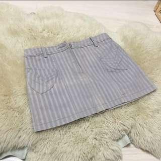 夏日條紋短裙