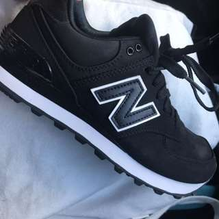 NEW BALANCE black White Shoes