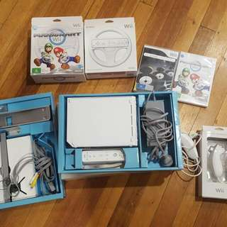 Nintendo Wii White Console, Control, 2x Games, All Cords, Good Working Condition, Preloved
