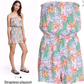 Strapless Playsuit H&M