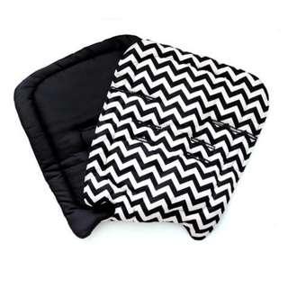 ZYJI STROLLER PAD Chevron Black,Tribe Blue,Black Stripes,Tiles Black