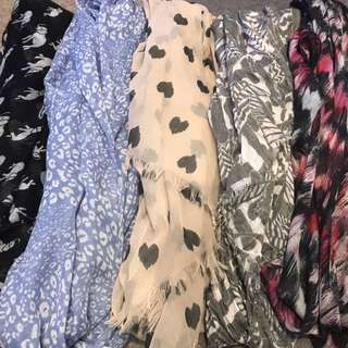 Assorted Fashion Scarves