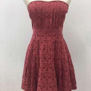 Elegant Mini Red Dress
