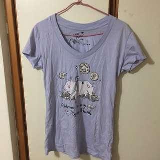 Lazybone絕版上衣 淺紫色(L)
