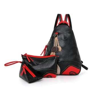 【買一送二】時尚新品女包,胸包,側背,後背都方便
