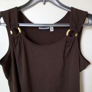 Plus Size Brown Blouse Cover-up