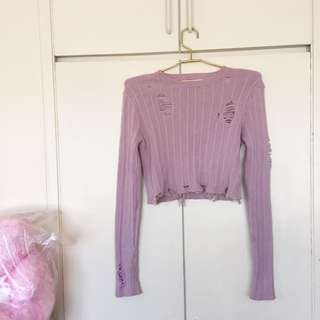 Forever 21 Distress Sweater