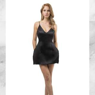 Runaway luxe Black Silk Selena Dress