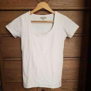 LAURA ASHLEY white Tshirt Size XS