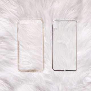 Transparent iPhone 7 Plus Phone Case + HD Glass Screen Protective Film