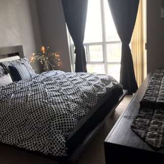 Moving Sale- Queen Bed with 2 SideTables & a Dressing Table from Kudos Furniture