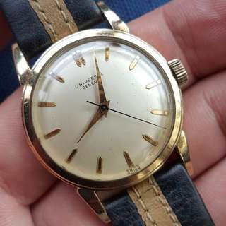 5) Vintage Universal Geneve 10K Gold Filled Watch