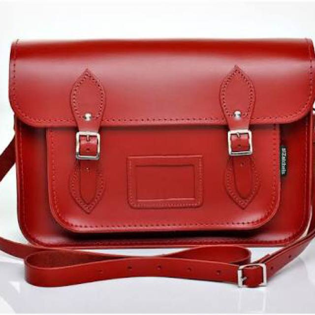 13 INCH RED CLASSIC SATCHEL