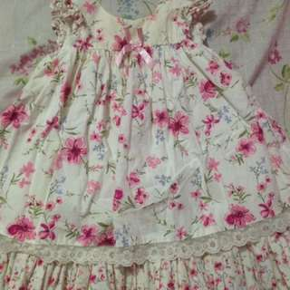 FLORAL SLEEVELESS DRESS, INCLUDES PANTY