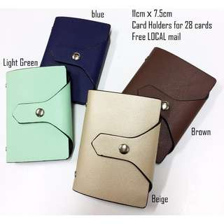 BKK Card holders - To hold up to 28 cards.