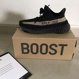 Yeezy 350 V2 Black Green