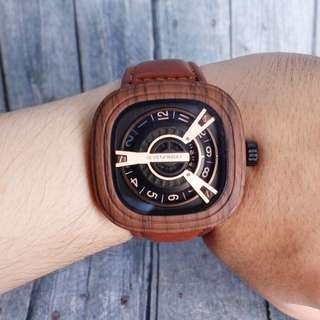 jam tangan seven friday man kulit kayu (cuci gudang) 0316c95eac