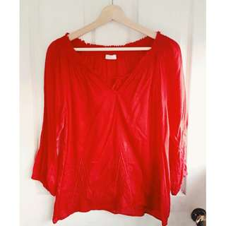 Red PROMOD blouse