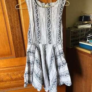 棉麻傘裙洋裝