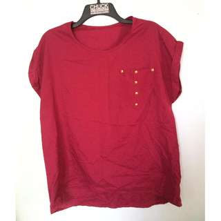 M-010 Red Blouse