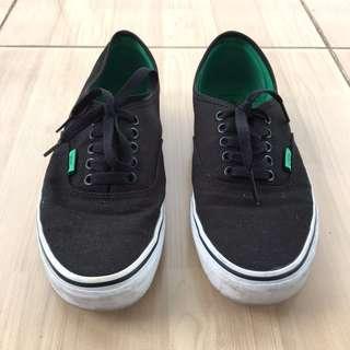 Vans Black/Kelly green