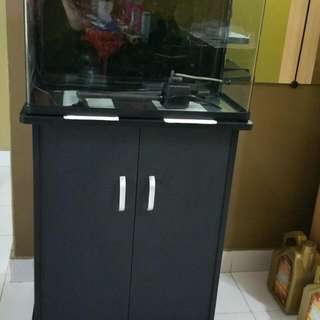 Used Fish Tank 2ft X 1ft With Cabinet