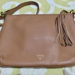 Fossil Authentic Leather Sling Bag