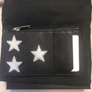 全新YSL saint laurent card holder wallet銀包卡片套