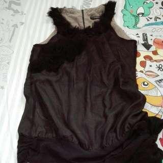 nichii sleeveless black top#Baget20
