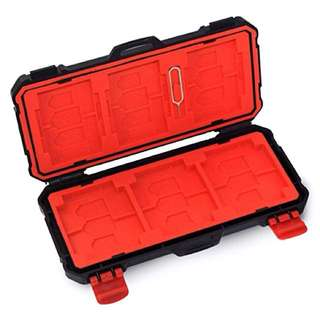 Memory Card Case Holder For 12x SD Or 6x CF Waterproof Antishock Lynca