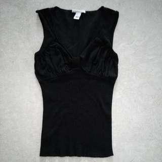 🚚 Mango Basics Sleeveless Blouse In Black