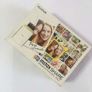 Instax SHARE printer in GOLD
