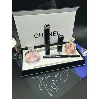 🚚 預購 🎀香奈兒五件香水彩妝組禮盒 Chanel 香水彩妝5五件套裝禮盒🎁
