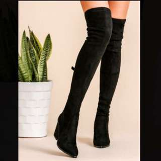Chunky High Black Boots