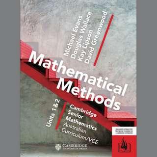 Year 11 Cambridge Methods Textbook PDF