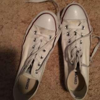 White Converse Size 9