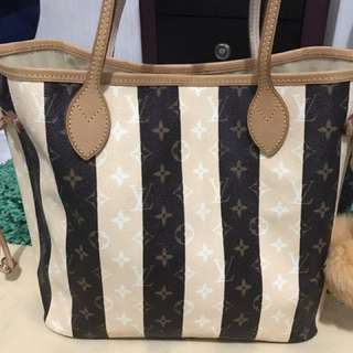 LV Monogram Stripe Mirror Ori Leather Udah Matang