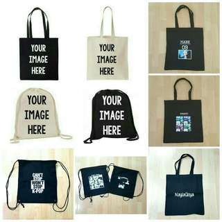 Customized Drawstring Bags Or Tote Bags
