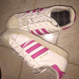 Adidas Superstar Pink White