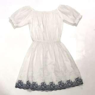 Off-the-Shoulder Flowy Dress