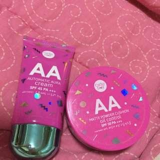 AA Cream Aura And AA Matte Powder Cushion  Used Once Pero Hindi Hiyang Sa Akin